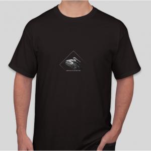Burke Ingraffia pelican logo t-shirt, unisex, black