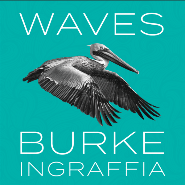 Burke Ingraffia Waves sticker with pelican